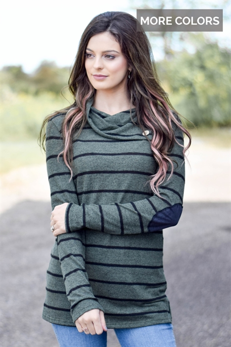 Picture of Triple Button Elbow Patch Tunic