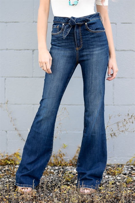 Picture of MaryEllen Tie Front High Waist Jeans