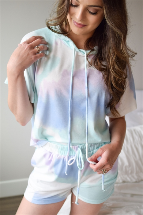 Picture of Cloud Soft Tie Dye Lounge Set