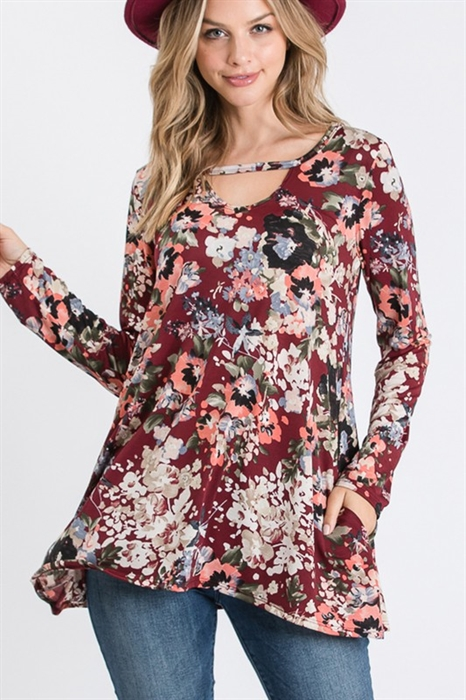 Picture of Annalise Floral Keyhole Top 🇺🇸
