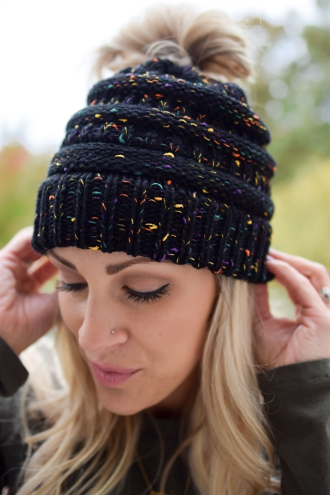 Picture of A Spooky Night Ponytail Beanie