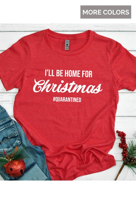 Picture of I'll Be Home For Christmas Graphic Tee (Youth & Adult)