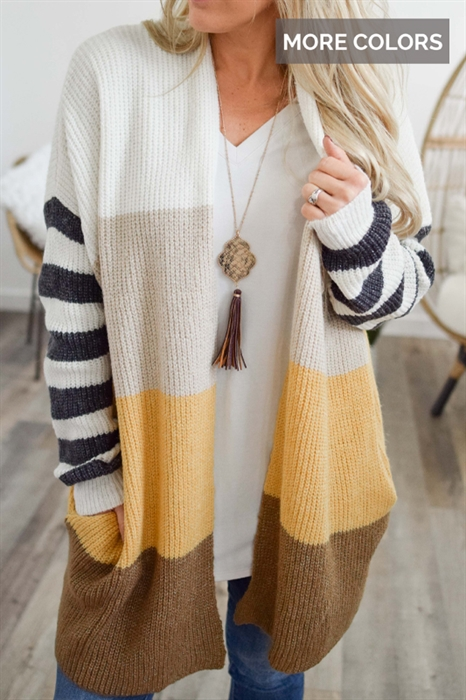 Picture of Close To You Striped Cardigan