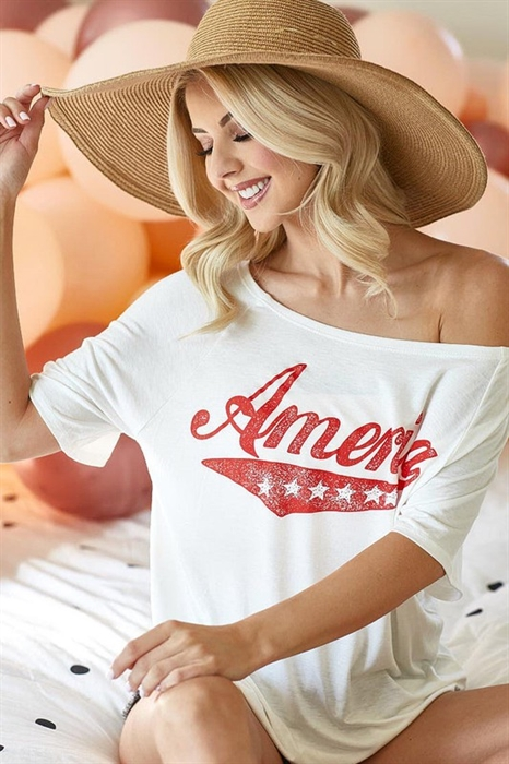 Picture of America Slouchy Top