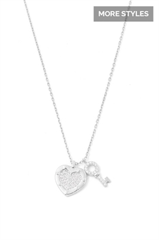 Picture of Heart and Key Necklace