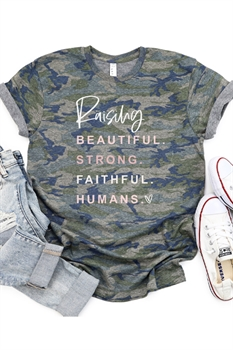 Picture of Raising Faithful Humans Camo Graphic Tee by FBT