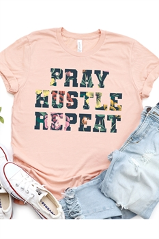 Picture of Pray, Hustle, Repeat Graphic Tee by FBT