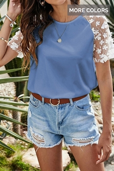 Picture of Lucille Flower Sleeve Top