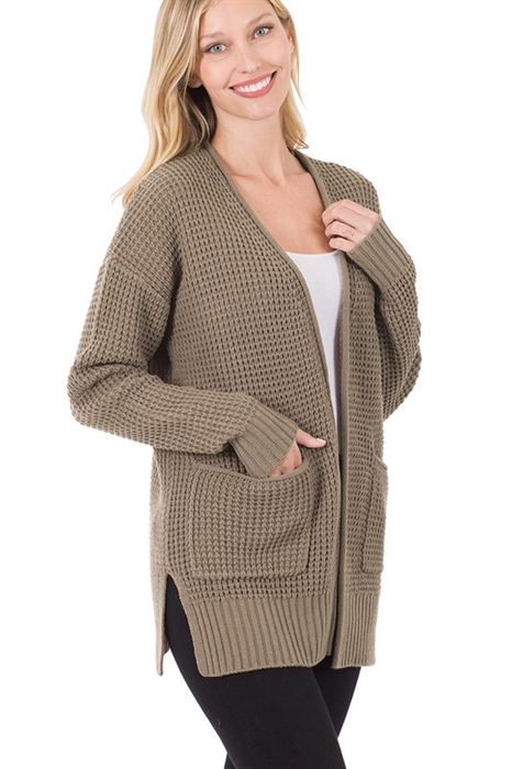 Picture of Waffle Knit Cardigan